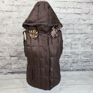 Missoni Down Feather Puffer Hooded Vest Jacket